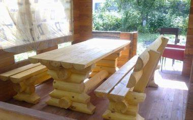 Проект мебели из бревна