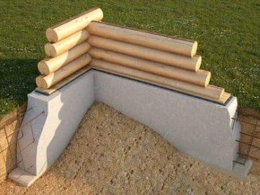 Монтаж фундамента деревянного дома