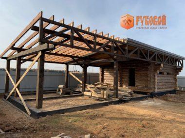 Баня 6*6 + терраса 6*8 м, Кировская область, п. Садаковский, 2020 г.