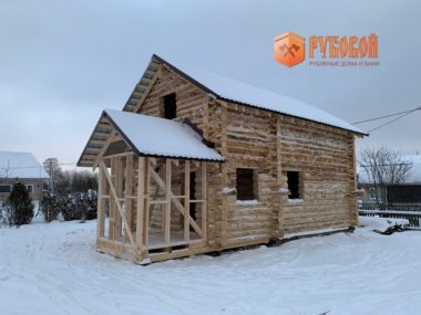Дом 6*9 с крыльцом Кировская обл., д. Садаковы, 2020 г.