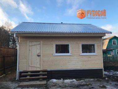Баня 3*3 с террасами 5*6, Кировская обл., д. Субботиха, 2019 г.