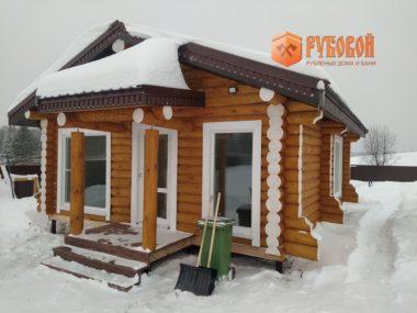 Баня 7*9 м,  Кировская обл., д. Луза, 2019 г.