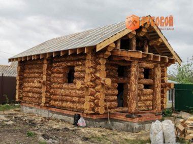 Баня 6*8 метров из лиственницы,  г. Воронеж, 2020 г.